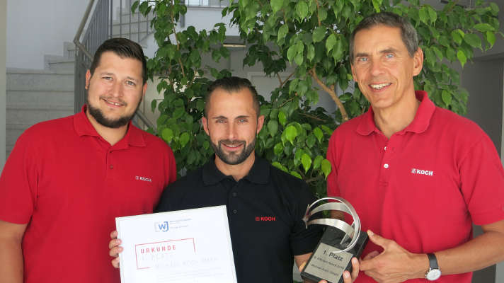 Michael Koch gewinnt B:Efficient Award