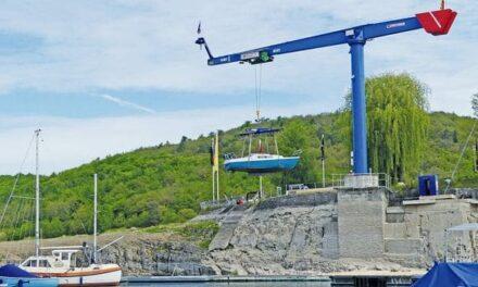 40 Meter Hubhöhe für einen Bootskran
