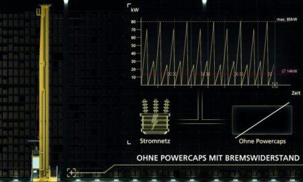 Intelligentes Energiemanagement bei Regalbediengeräten senkt TCO
