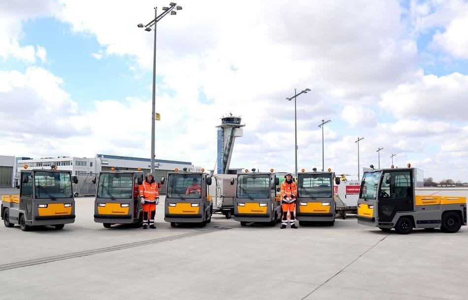Airport Nürnberg setzt auf E-Schlepper-Flotte