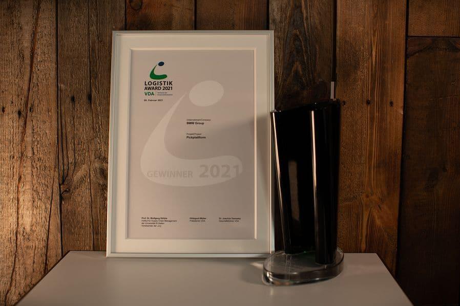 BMW Group räumt VDA Logistik Award 2021 ab