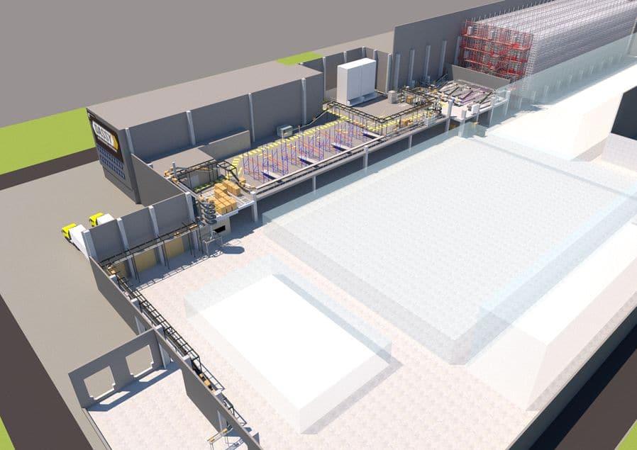 Dassy erweitert Logistikzentrum mit TGW
