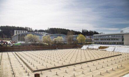 Baubeginn des Auer-Logistikzentrums in Amerang