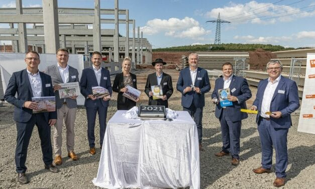 tegut… Logistikzentrum: Grundstein für Hochbau gelegt